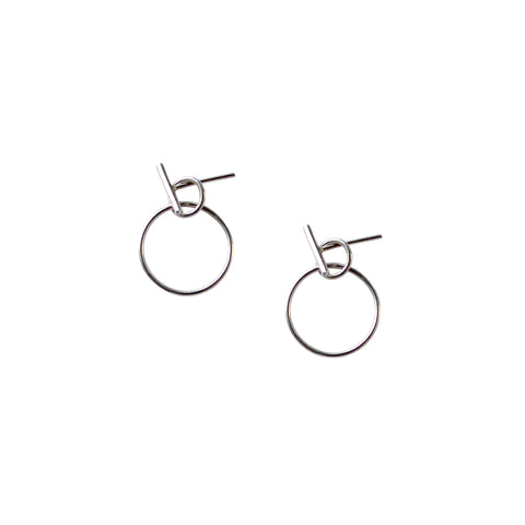 Large Arch Earrings - Sterling Silver
