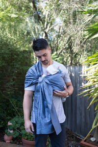 'The Perfect Storm' Silk Ring Sling - Zarinah.com.au