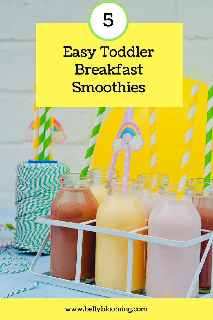 5 Easy Toddler Breakfast Smoothies