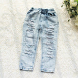 baby boy ripped denim jeans cute cool kids boutique childrens clothing funky fashion light wash