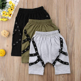 funky baby boys harem punk shorts pants kids boutique clothing fashion monochrome