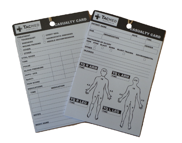 TacMed Casualty Card