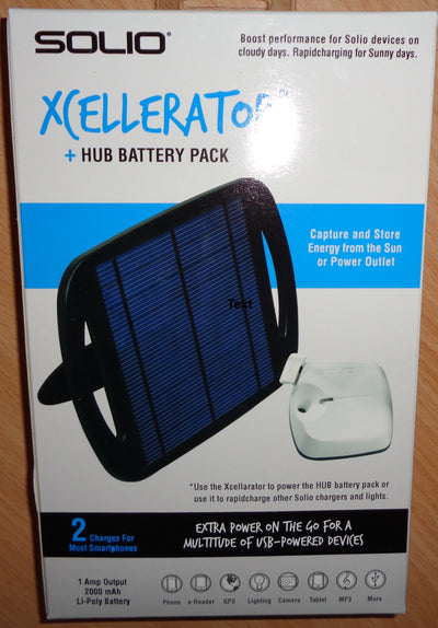 Solio Xcellerator + Hub Battery Pack
