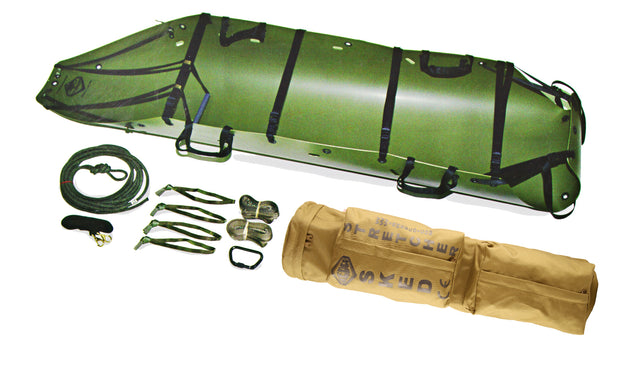 Sked Basic Rescue O.D Green Components - Steel Buckles