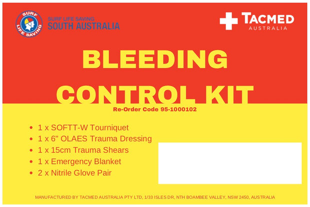 Surf Lifesaving Club SA - Bleeding Control Kit
