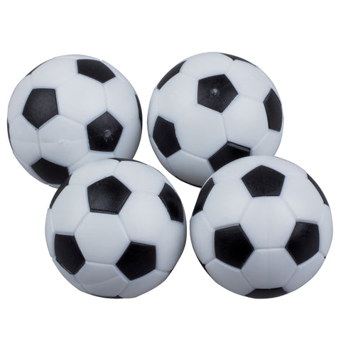 4 Black and White Soccer Style Foosballs - Australia only