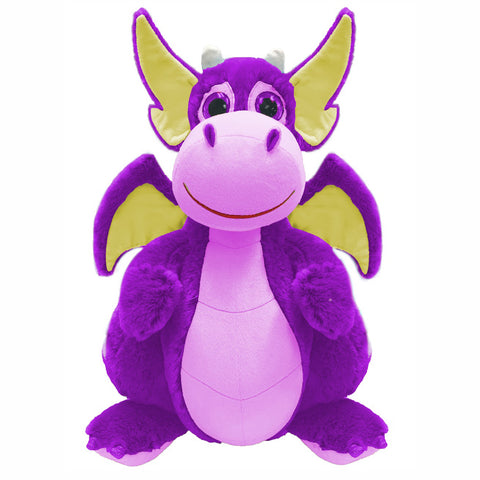 PURPLE DRAGON PLUSH TOY - 25cm