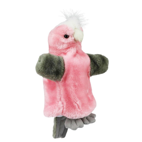 Galah Hand Puppet with sound soft plush toy by Elka Australia