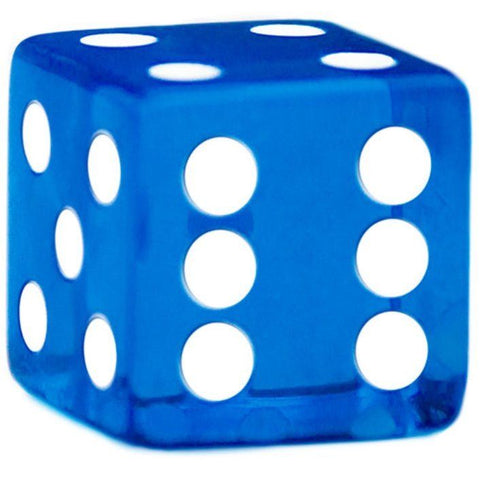 10 Blue Dice - 19 mm - FREE Shipping - Australia only - Better Buy Now Games Australia
