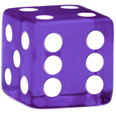 10 Purple Dice - 19 mm - FREE Shipping - Australia only - Better Buy Now Games Australia