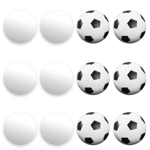 12 Mixed Foosballs, Includes 6 Soccer Style and 6 Smooth - Australia only - Better Buy Now Games Australia