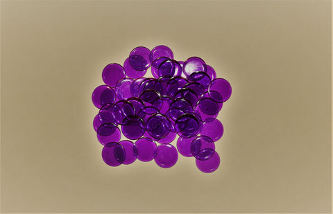 50 Purple Bingo Chips Premium in Purple Organza pouch - Australia only
