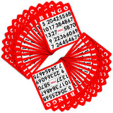 15 Red Bingo Cards with Jumbo Numbers - Australia only