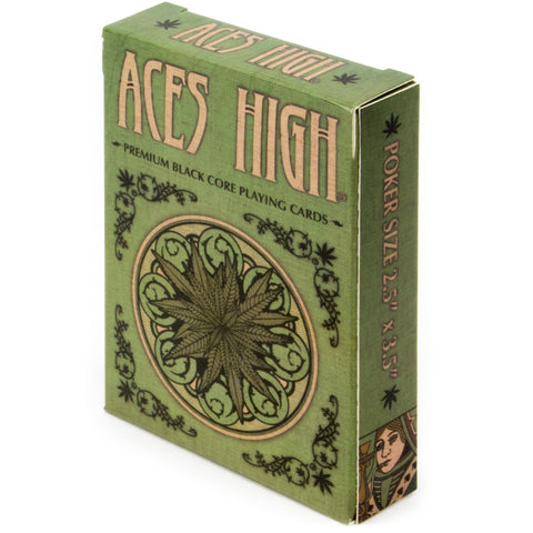 Aces High Green Playing Cards - Australia only