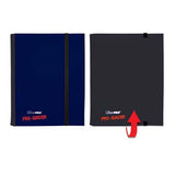 4 Pocket Pro Binder Blue/Black - 4-Pocket Blue & Black Flip PRO-Binder - Australia only