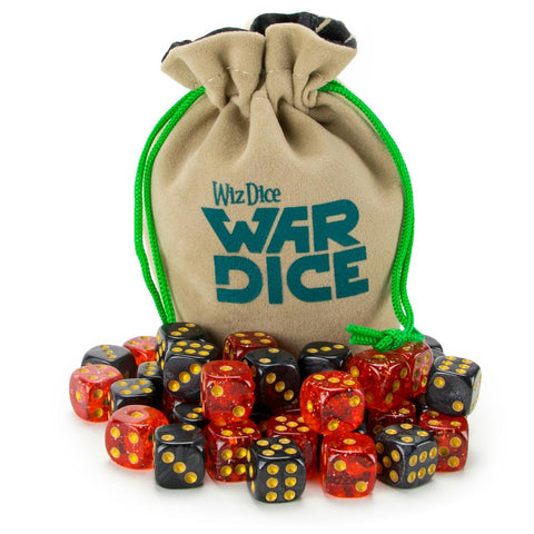 Set of 40 12mm War Dice, Blood & Oil - Australia only