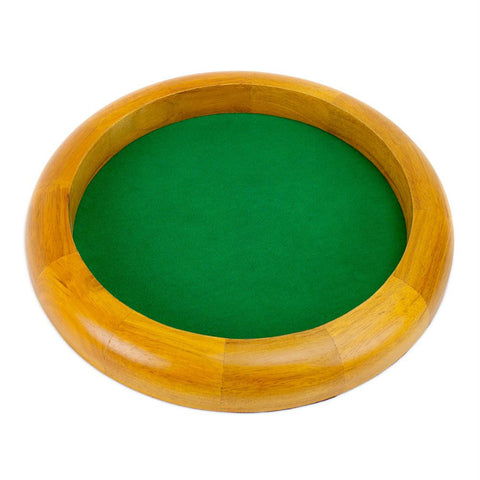 12 in Wooden Circular Dice Tray - Better Buy Now Games Australia