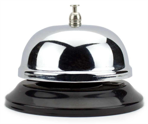 6cm Chrome Service Bell with Black Base - Australia only - Better Buy Now Games Australia