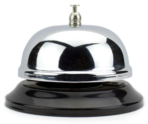 10cm Chrome Service Bell with Black Base - Better Buy Now Games Australia
