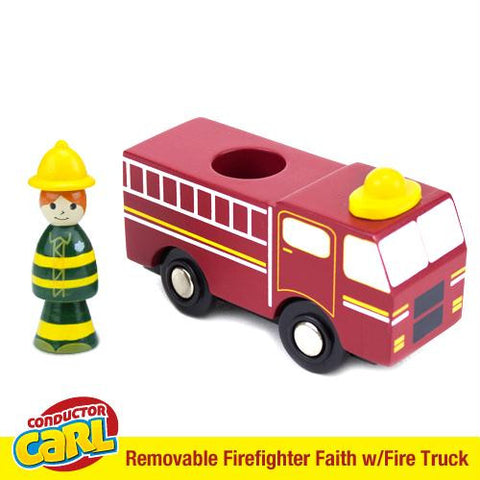Firefighter Faith Fire Truck with Removable Character - Australia only