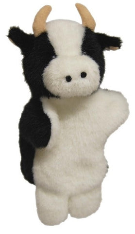 Cow Hand Puppet soft plush toy by Elka Australia