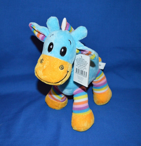 Gabby Giraffe Bright Striped Blue 30cm