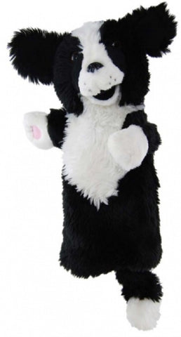 Border Collie Dog Long Sleeved Puppet 35cm soft plush toy by Elka