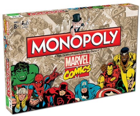 Marvel Retro 2016 Monopoly - Better Buy Now Games Australia