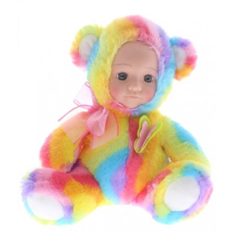 Fur Baby 25cm BUTTONS Bear - Cotton Candy
