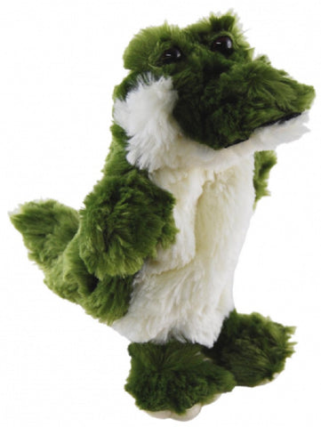 CROCODILE HAND PUPPET soft plush toy by Elka Australia