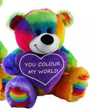 ELKA BEAR JELLY HEART 23CM - COLOURED - SOFT PLUSH TOY **NEW**