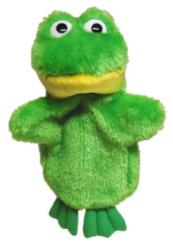 FROG HAND PUPPET soft plush toy by Elka Australia
