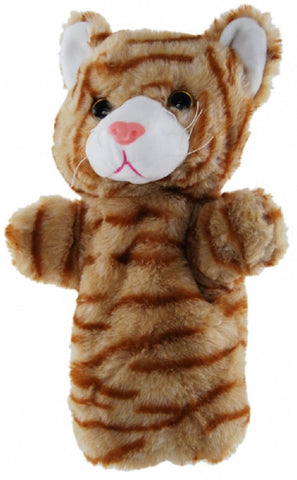 Ginger Cat Hand Puppet 25cm soft plush toy by Elka