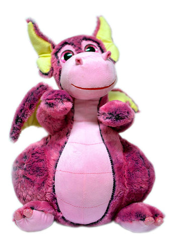 PINK DRAGON PLUSH TOY - 25cm
