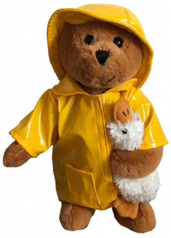 BEAR cute IN YELLOW RAINCOAT WITH DUCK - 30cm