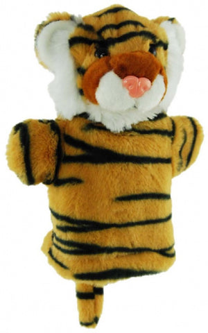 Tiger Hand Puppet with sound 22cm soft plush toy by Elka