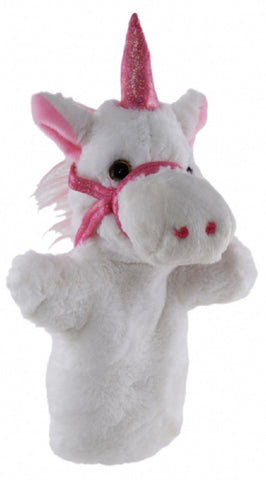 Unicorn Hand Puppet 25cm soft plush toy by Elka