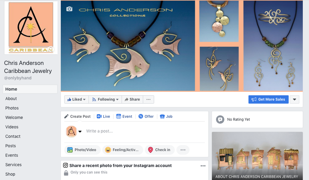 Like Chris Anderson Jewelry on Facebook