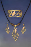 Deya Necklace, Earrings & Bracelet Jewelry Set