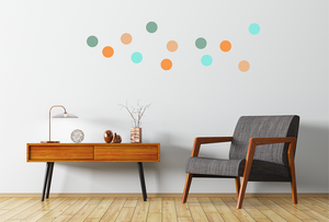 TONAL DOTS WALL STICKERS