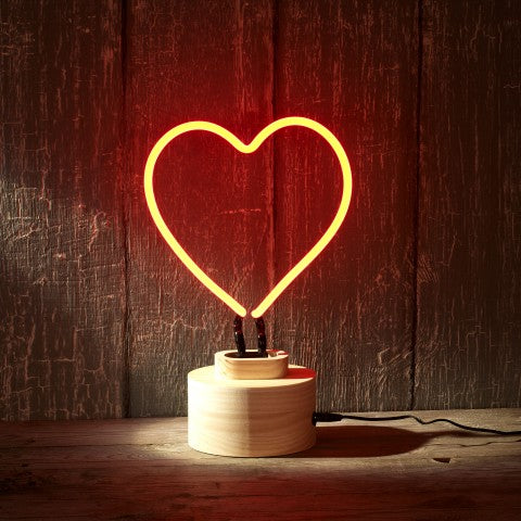 NEON - Heart Table lamp