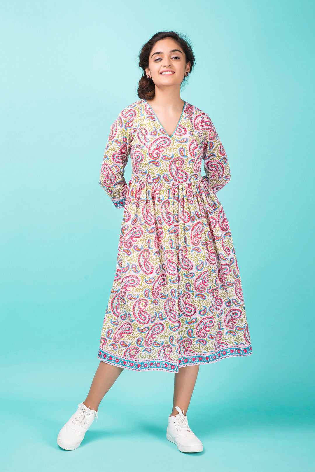 Pink Paisley Day Dress