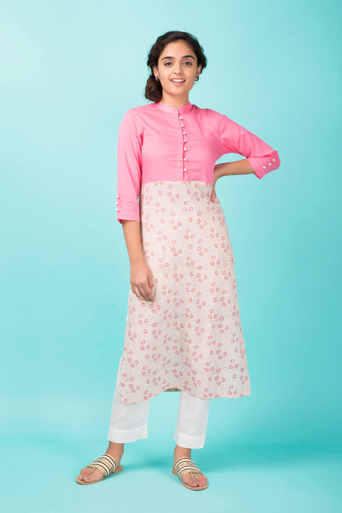 Rose Colorblock Kurta