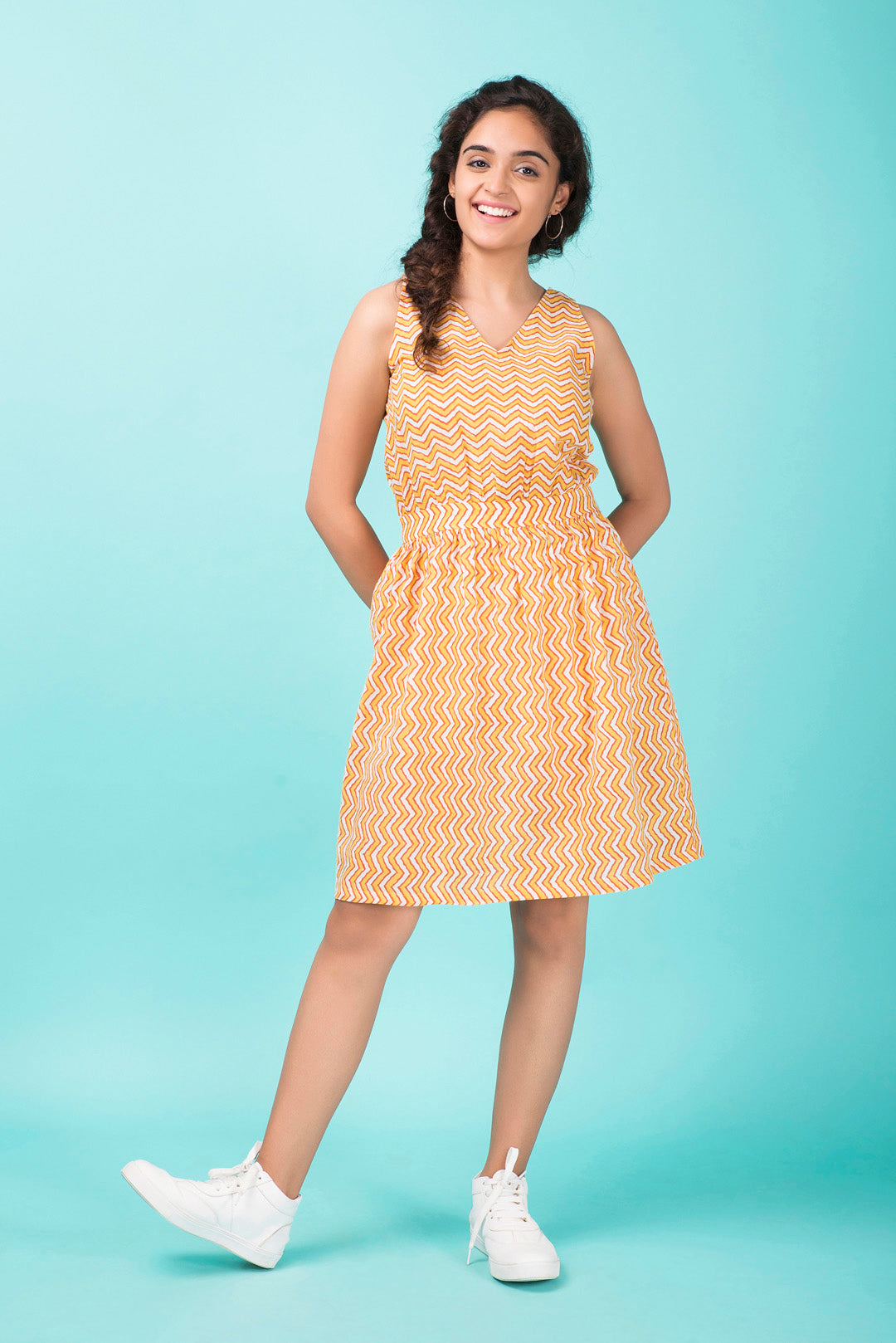Chevron A-Line Dress