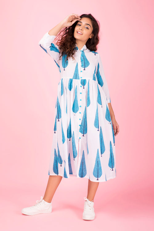 Blue Willow Midi Dress