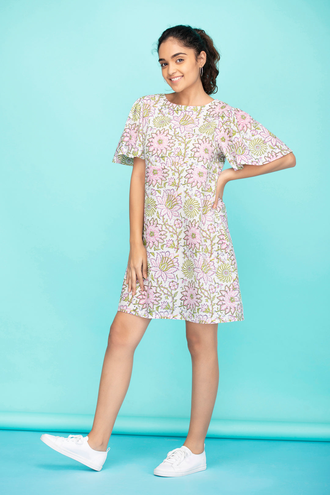 Pink Dahlia Shift Dress