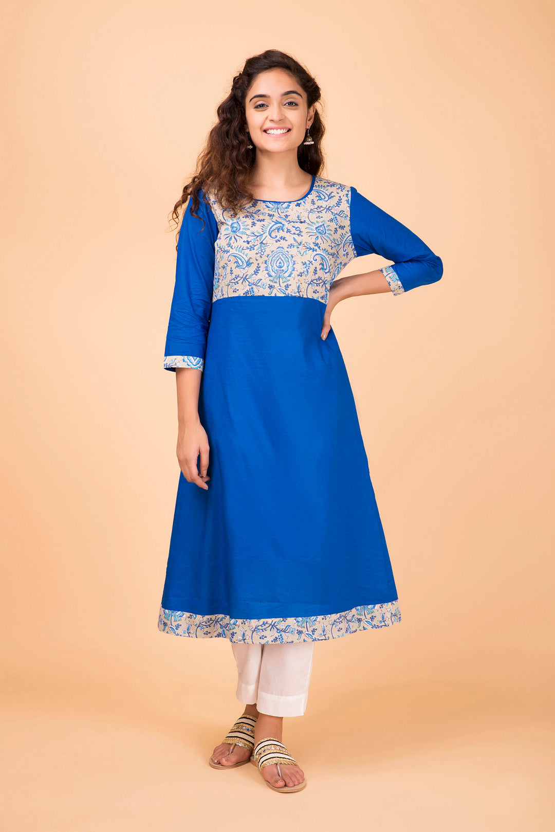 Ink-Blue Bodice Kurta