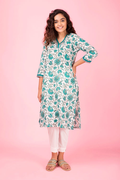 Emerald Flower Kurta