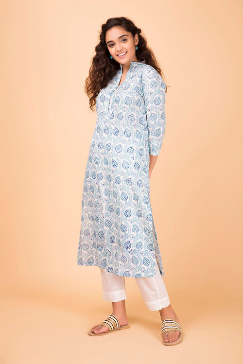 Mint Blue Kurta