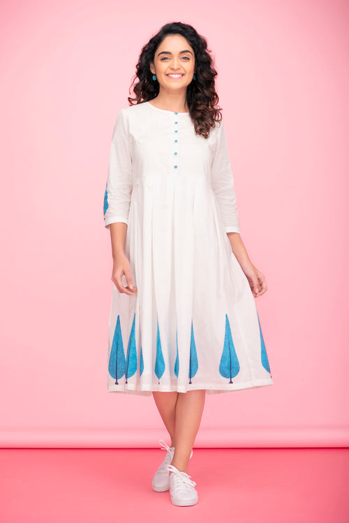 Blue Willow Applique Dress